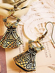 Retro Dress Bow Earrings