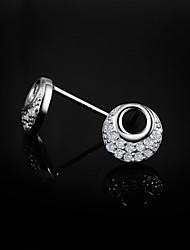 venda da promoção bonito / partido / ocasional esterlina brincos de prata design clássico