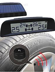 tpi09 energia solar 4 sensor de monitoramento de gás exetrnal pneu de carro com o painel LCD