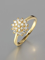 Ring Wedding / Party / Daily / Casual Jewelry Gold Plated Statement Rings 1pc,6 / 7 / 8 / 9 Gold
