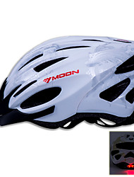 LUA Ciclismo Prata PC / EPS 21 Vents Luminous Aviso capacete da bicicleta