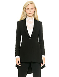 Women's Elegant Fashion Trumpet Style Swallowtail Sexy Blazer
