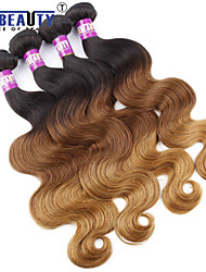 "3 Pcs /Lot 16""-24""7A 3T Peruvian Virgin Hair  Body Wave Hair Extensions 100% Unprocessed Remy Human Ombre Hair Weaves"