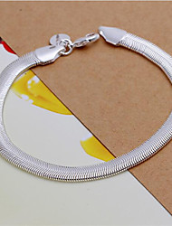 Bracelet/Chain Bracelets Sterling Silver Wedding / Party / Daily / Casual Jewelry  White,1pc Christmas Gifts