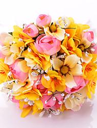 Fleurs de mariage Rond Bouquets Mariage / Le Party / soirée Satin Env.30cm