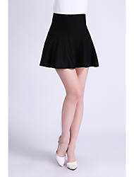 Jupes Aux femmes Au dessus du genou Vintage/Sexy/Décontracté/Soirée/Travail/Grandes Tailles Mélange de Laine Micro-élastique