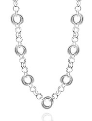 Cremation jewelry 925 sterling silver Round Chain Necklace for Women