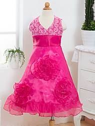 Girl's  Fashion Leisure Sleeveless  Flowers Princess Formal Dress