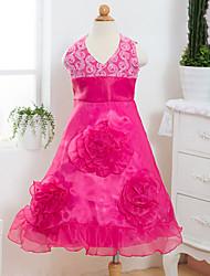 Girl's  Fashion Leisure Sleeveless  Flowers Princess Formal Dress
