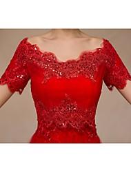 casamento envolve boleros de manga curta laço ruby bolero encolher de ombros