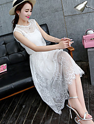 Women's Lace Dress , Lace/Cotton Sexy/Casual/Lace