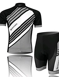 A Black Short Sleeved Suit For Clothing, Clothing Wicking Bicycle, Motor Function Material