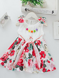 Kid's Print/Cute Dresses (Cotton)