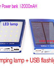 привело кемпинг лампа 12000mAh Новая солнечная банк внешняя батарея питания smd5730 20LED