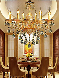 Chandeliers Crystal/LED Modern/Contemporary Living Room/Bedroom/Dining Room/Study Room/Office Glass