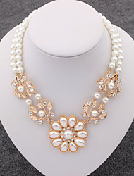 Masoo Women's Fashion 2015 New Arrival High Quality Flower Pearl Necklace