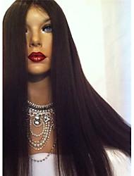 grado 8a glueless del frente del cordón pelucas de pelo humano para las mujeres negras sin cola brasileño virginal del pelo peluca llena