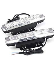 1pair carro auto 10w 5LED dia 980lm aviso luz de freio luz running drl piscando bulbo DC12V branco