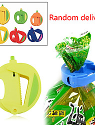 Set of 3 Kitchen Storage Bag Clip Fresh Food Seal Stick Zip Organizer (Random Color)