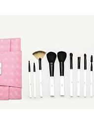 SY 10PCS Cosmetic Brush Set/Goat Hair Brush/Pony Brush/Synthetic Hair