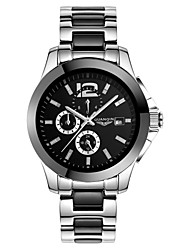 GUANQIN® Luxury Men Automatic Self-winding Waterproof Sapphire Crystal Calendar Steel and Leather Band 42mm Wrist Watch Cool Watch With Watch Box
