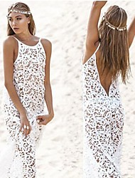 Women's Beach/Casual Sleeveless Dresses (Lace)