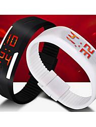 Herrn Sportuhr Armbanduhr digital LED Kalender Silikon Band Schwarz Weiß Blau Rot Orange Braun Grün Grau Rosa Lila Rose