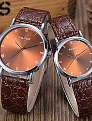 Fashion Simple Gold Disc Belt Couple Watch Waterproof Quartz Movement