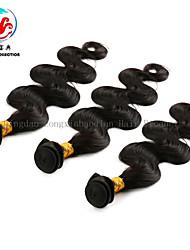 """8 """"-24"""" note 5a vente chaude couleur naturelle des cheveux de vague de corps chinois trois pièces"""