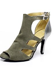 Женская обувь - Замша - Номера Настраиваемый (Серый) - Латино/Сальса