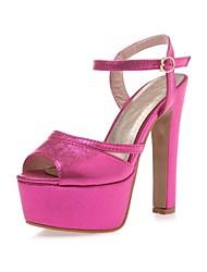 Women's Shoes Chunky Heel/Peep Toe/Platform/Slingback/Ankle Strap/Sandals Dress /Gold/Silver/Pink