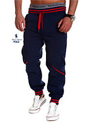 Men's Casual/Formal/Sport Print Sweatpants Pants (Cotton Blends)