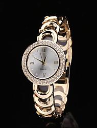 c&d 2015 nouvelles femmes de montre-bracelet à quartz Montres imitation strass relogio numérique acier feminino