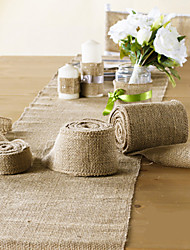 "Wedding Decoration 4"" (10cm) Wide 10 Meter Jute Cloth Burlap for Decoration Chair Sash"