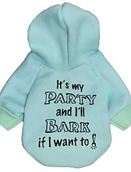 """Lovely """"It's my party and I'll bark if I want to"""" Pattern Fleeces Hoodies T-Shirt for Dogs(Assorted Sizes)"""