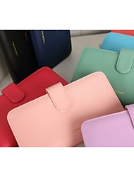Korean Women Thin Wallet Card Package Colorful Bag Purse Women Handbags Multi - Card Position PU Leather