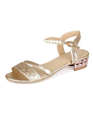 Women's Shoes Chunky Heel Pointed Toe Sandals Casual Silver/Gold