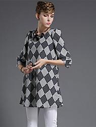 Women's fashion heavy summer yards a lantern sleeve printed word lattice long beach dress