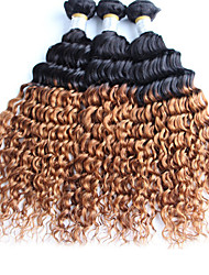 1 Piece Curly Human Hair Weaves Peruvian Texture Human Hair Weaves Curly