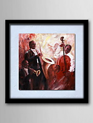 Oil Paintings One Panel Modern Abstract Character Hand-painted Canvas Ready to Hang