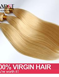 3pcs 7a bleekmiddel blonde 613 maagd haarverlenging brazilian vingin haar steil brazilian menselijk haar weave bundels haar