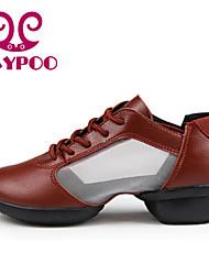 Zapatos de baile (Rojo/Blanco) - Dance Sneakers - No Personalizable - Tacón grueso