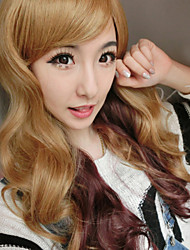 Natural Wave Wigs Hair Cosplay Synthetic Hair Wigs Mix Color