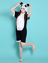 Kigurumi Pyjamas Panda Collant/Combinaison Halloween Pyjamas Animale Blanc / Noir Mosaïque Coton Kigurumi Unisexe Halloween / Carnaval