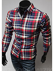Hot Sell Summer Style 2015 Brand Long-Sleeve Shirt Men Clothes Brand