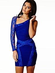 Cocktail Party Dress - As Picture Sheath/Column Scoop / Notched Short/Mini Spandex / Rayon / Nylon Taffeta