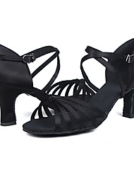 Customizable Women's Dance Shoes for Latin/Salsa in Black
