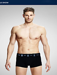 Men's Cotton Modal Boxer Briefs Summer  Hot Health Antibacterial, Ventilating, Trumpet S Underwear Black  White