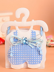 Nonwoven Fabric Baby Clothes Hooks Design Favor Gift Bags Wedding Candy Favor Bags  Set of 12