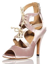 Zapatos de baile ( Rosado ) - Salsa - No Personalizable - Tacón de estilete